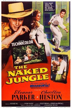 The Naked Jungle, Left and Right: Charlton Heston; Center: Eleanor Parker, 1954