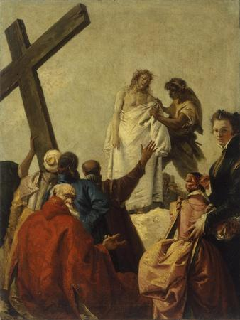 Way of the Cross, Station X - Christ Stripped of His Garments