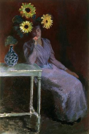 Portrait of Suzanne with Sunflowers