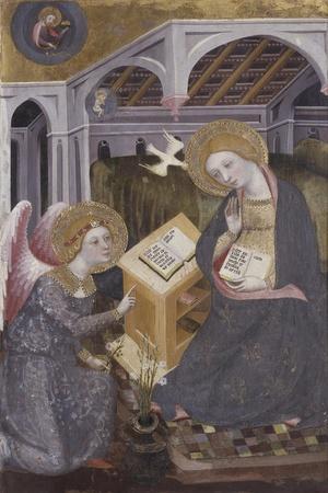 Annunciation, Angel Gabriel Kneeling to Mary