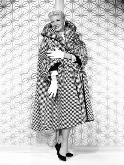 Forever Female, Ginger Rogers in Tweed Greatcoat Designed by Edith Head,  1953' Photo | AllPosters.com