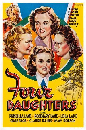 Four Daughters, Gale Page, Rosemary Lane, Priscilla Lane, Lola Lane, 1938