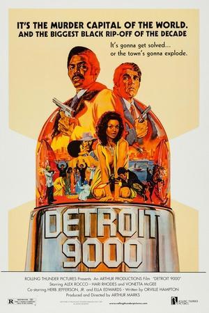 Detroit 9000 Art, Hari Rhodes, Alex Rocco, Vonetta Mcgee, 1973