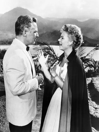 South Pacific, from Left, Rossano Brazzi, Mitzi Gaynor, 1958