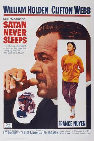 Satan Never Sleeps, from Left: William Holden, France Nuyen, 1962