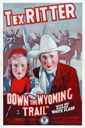 Down the Wyoming Trail, Mary Brodel, Tex Ritter, 1939
