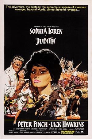 Judith, Sophia Loren, Left: Peter Finch; Second Left, Center and Bottom Right: Sophia Loren, 1966