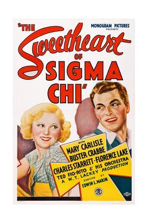 The Sweetheart of Sigma Chi, from Left: Mary Carlisle, Buster Crabbe, 1933