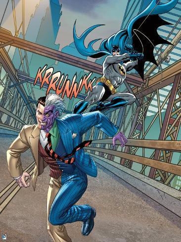 Batman swinging on rope