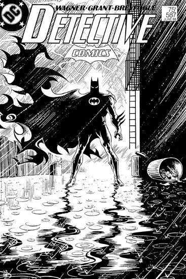 423b6c119 DC Originals: Old Detective Comics Cover - Batman Standing in the Rain Dead  or Alive Print at AllPosters.com
