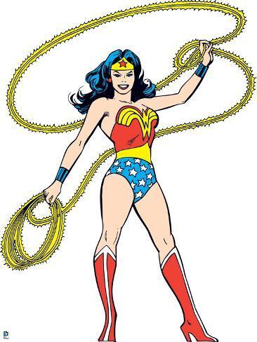 Classic Wonder Woman Clip Art
