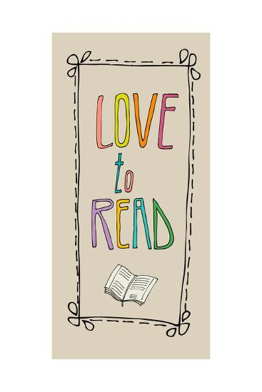 Background With Retro Colored Letters Love To Read
