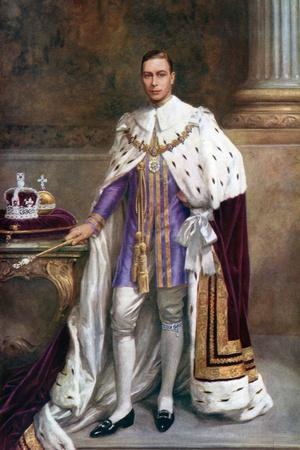 King George VI in Coronation Robes, 1937