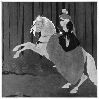 A Woman Sitting on a Rearing Horse, 1898