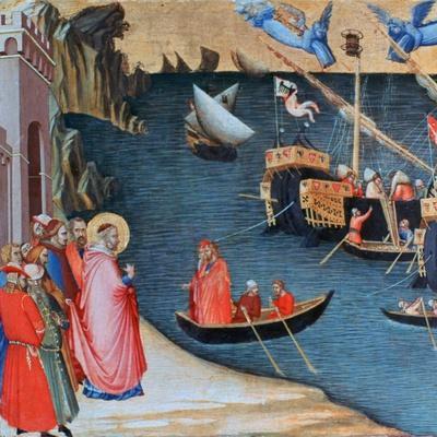 St Nicholas Saves Mira from Famine, C1327-1332