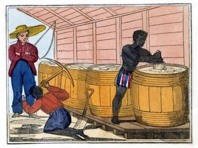 Filling and Heading Casks, 1826