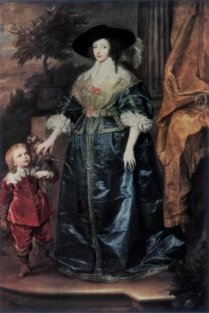 Queen Henrietta Maria and Her Dwarf Sir Jeffrey Hudson, C1633