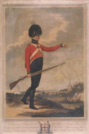 Military Figure Wearing the Uniform of the Tenth Regiment of Loyal London Volunteers, 1804