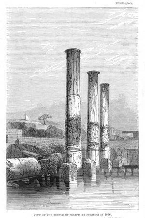 Temple of Serapis at Puzzuoli in 1183, Charles Lyell