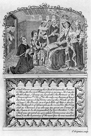 Earl Rivers Presents His Book to King Edward IV, C1477 (Late 18th or Early 19th Century)