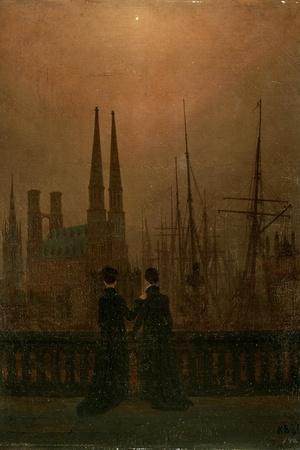 Harbour at Night (Sister), 1818-1820