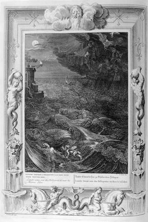 Leander Swims over the Hellespont to Meet His Mistress Hero, 1733