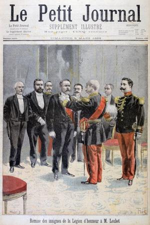 Being Awarded with the Medal of the Legion of Honour by Emile Loubet, Paris, 1899