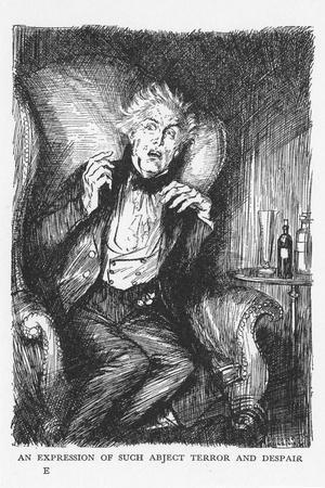 Scene from the Strange Case of Dr Jekyll and Mr Hyde by Robert Louis Stevenson, 1927