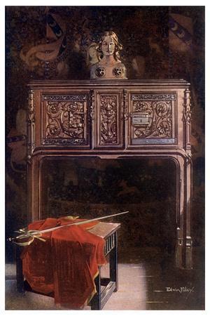 Carved Oak Lous XII Dressoir, 1910