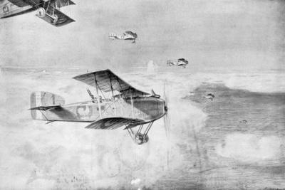 A French Squadron of Daytime Bombers Above a Sea of Clouds, 1918