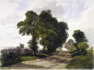 Belsize Lane, Hampstead, London, 1842