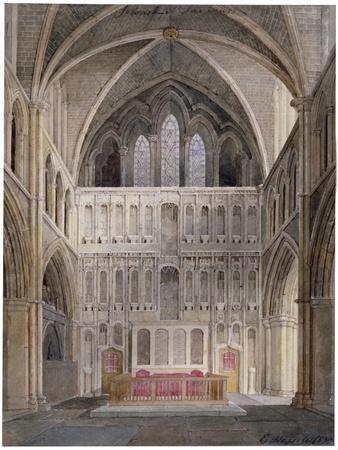 Interior View Looking Towards the Altar, St Saviour's Church, Southwark, London, 1830