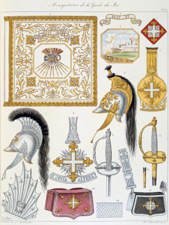 Mousquetaires De La Garde Du Roi, Insignia