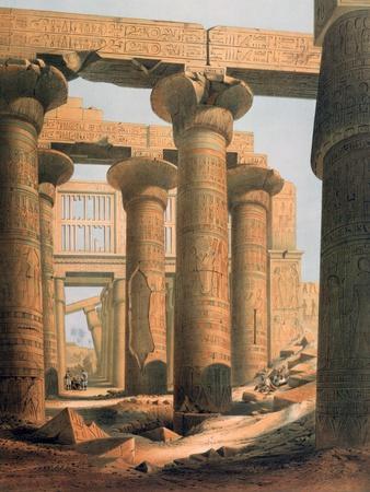 Hall at Karnak, Egypt, 19th Century