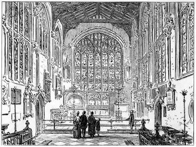 The Chancel of Stratford Church, Stratford-Upon-Avon, Warwickshire, 1885