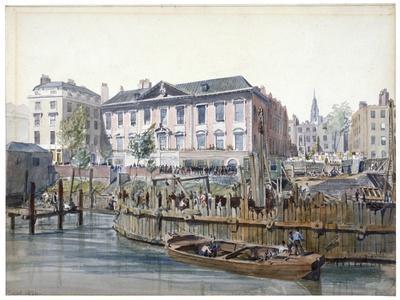 Construction of London Bridge, 1826