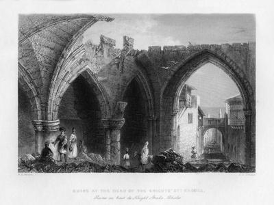 Ruins in Rhodes, Greece, 1841