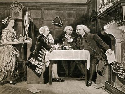 Dr Johnson, Goldsmith and Boswell
