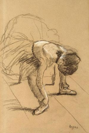 Seated Dancer Adiusting Her Shoes, C1876