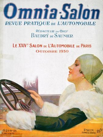 Front Cover Illustration from the Magazine 'Omnia Salon, July 1922