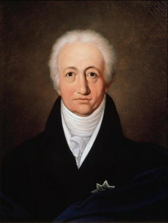 Portrait of the Author Johann Wolfgang Von Goethe, (1749-183), 1818