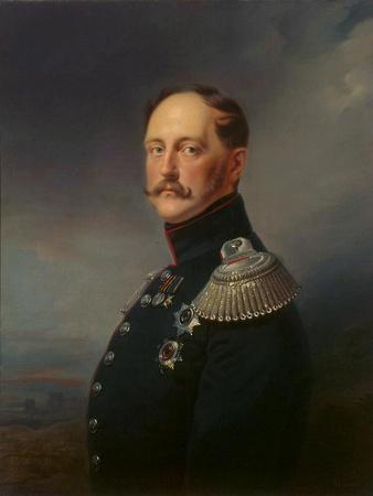 Portrait of Emperor Nicholas I, (1796-185), 1852
