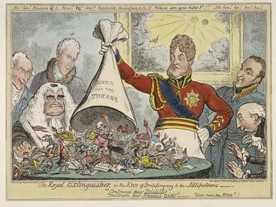 The Royal Extinguisher, or the King of Brobdingnag and the Lilliputians, 1821