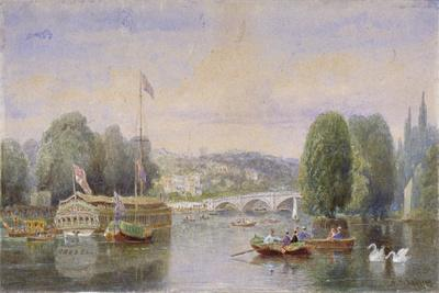 The River Thames with Richmond Bridge and Richmond Hill in the Distance, London, 1867