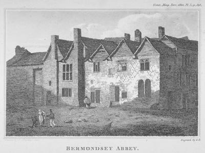 The Abbey of St Saviour, Bermondsey, Southwark, London, 1810