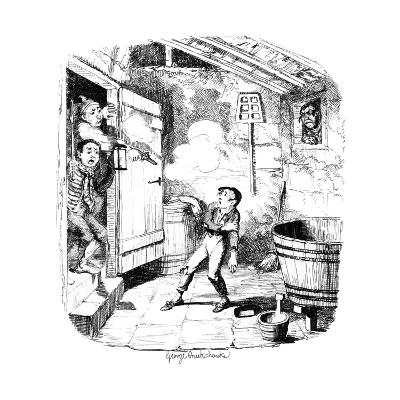 A Man Shoots a Young Boy Who He Suspects of Stealing, 19th Century