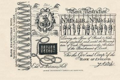 A Satirical Banknote: Crime, Punishment and Protest, 1819