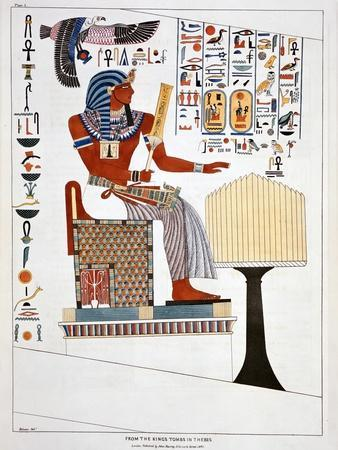 Mural from the Kings Tombs in Thebes, 1820