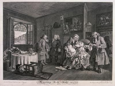 Marriage a La Mode, Plate VI, 1745