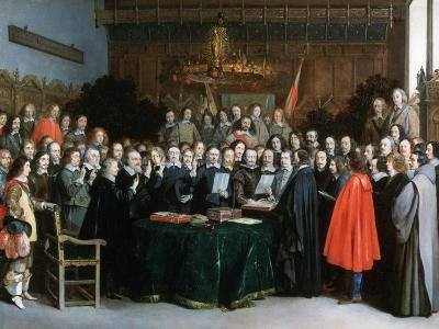 The Swearing of the Oath of Ratification of the Treaty of Münster, 1648
